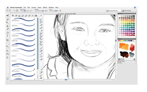 Corel painter essentials 4 win mac old version for Simple paintings to draw