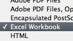 Acrobat X PDF to Excel Screenshot