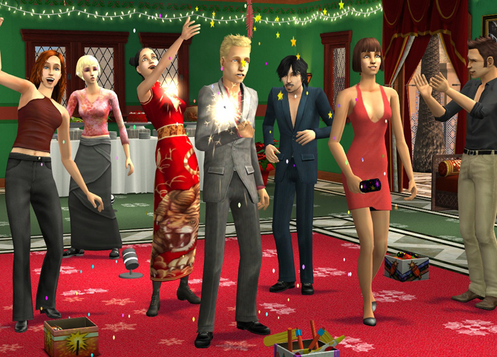 Let your sims celebrate New Year's in style with a fantastic party