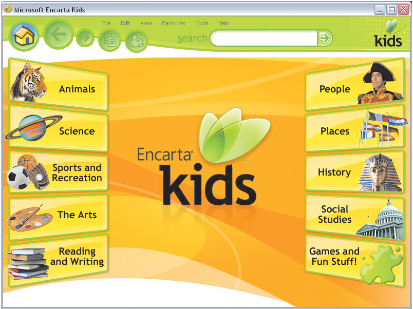 microsoft encarta junior 2008