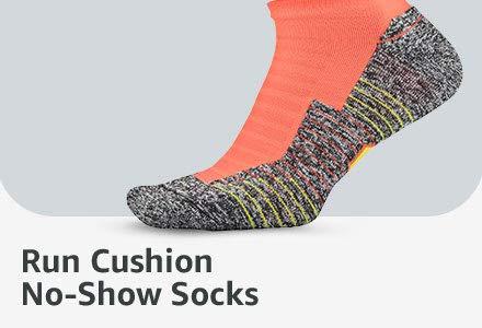 Run Cushion No-Show Socks