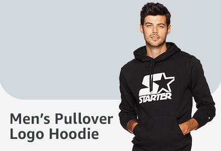 Mens Pullover Logo Hoodie