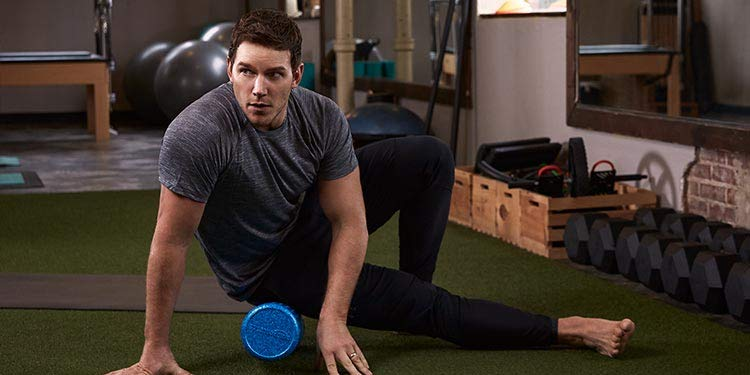Chris Pratt stretching