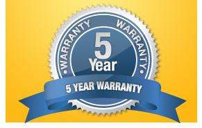 5 Years Product warranty
