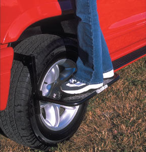 The HitchMate TireStep in use