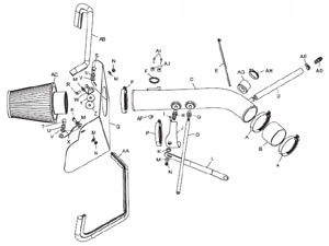 Detailed installation instructions and parts list for the K&N 57-9015-1 Fuel Injection Air Intake Performance Kit