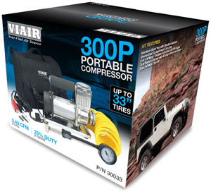 VIAIR 300P Portable Compressor in packaging