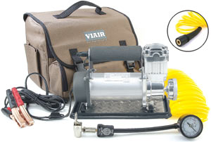 VIAIR 400P Portable Compressor with included accessories