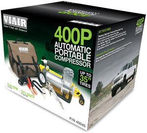 VIAIR 400P Automatic Portable Compressor in packaging