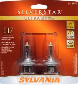 Sylvania Sylvania H7 SU BP SilverStar Ultra High Performance halogen headlight retail pack of 2