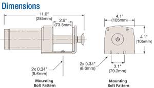 Schematics of the Superwinch LT2000 Utility Winch
