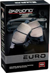 Akebono  EURO Ultra-Premium Ceramic rear brake pad set box