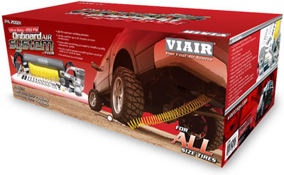 Packaging for the VIAIR 200 PSI Ultra Duty Onboard Air System