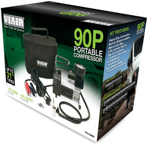 VIAIR 90P Portable Compressor in packaging