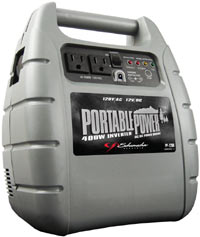 Front view of the Schumacher PP-2200 Portable Outdoor Power Unit