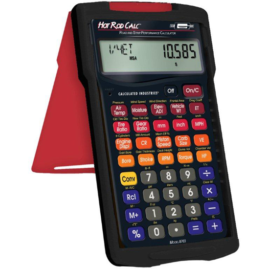 Mr  Gasket Hot Rod Calc Street and Strip Performance Calculator
