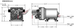 Schematic of the SHURflo 4008-101-E65 3 GPM 55 PSI Revolution Pump
