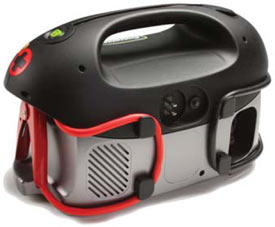Back view of the Energizer 84020 All-In-One 12V 18Ah Battery Jumpstarter with Air Compressor and Power Inverter
