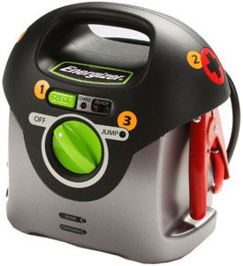 Front view of the Energizer 84021 Jumpstart 200 12-volt Battery Jumpstarter