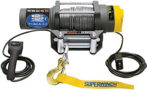 Superwinch 1145220 Terra 45 4,500-lb winch with handheld remote and handlebar switch