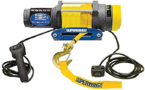 Superwinch 1145230 Terra 45 4,500-lb winch with synthetic rope, wired remote and handlebar switch