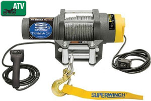 Superwinch 1135220 Terra 35 3,500-lb winch with handheld remote and handlebar switch
