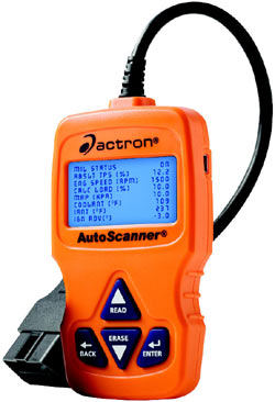 Front view of the Actron CP9575 Auto Scanner Trilingual OBD-II and CAN Scan Tool