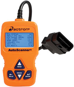 Actron CP9575 Auto Scanner Trilingual OBD-II and CAN Scan Tool with OBD-II connector