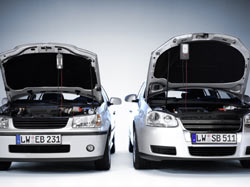 The Bosch C3 and C7 Battery Chargers and Maintainers, each using a mounting hook for use on-vehicle