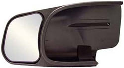 A driver's side CIPA Custom Towing Mirror