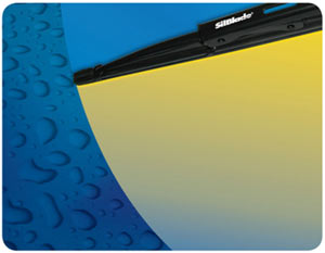 Demonstration of the cumulative effect of SilBlade's water-repellant coating on an windshield