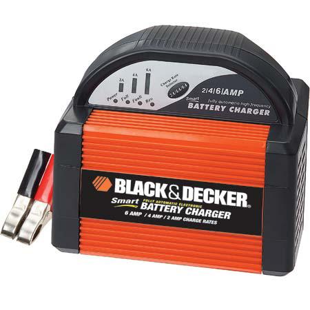 black decker vec1086bbd smart battery 6 4 2 amp battery charger automotive. Black Bedroom Furniture Sets. Home Design Ideas