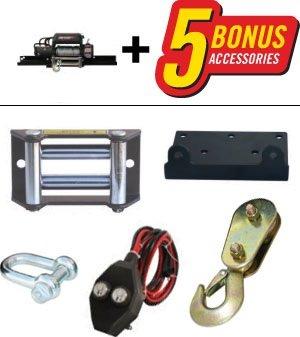 Amazon champion power equipment 18001 8000 lb power winch kit the champion winch 18001 includes 5 bonus accessories freerunsca Image collections