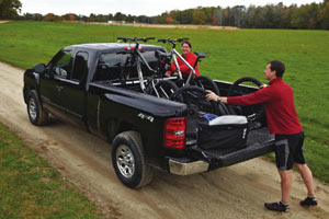 Using the Thule 822XT Bed-Rider Fork Mount Carrier in the field