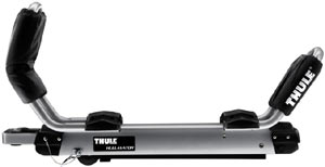 An image of an isolated Thule 897XT Hullavator Kayak Roof Rack Mount Carrier in the closed position