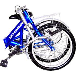 Amazon Com Schwinn Hinge Folding Bike Folding Bicycles