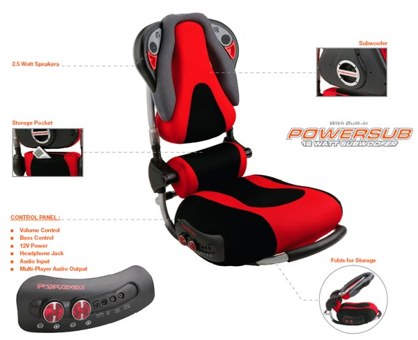 Terrific Amazon Com Pyramat S5000 Sound Rocker Black Red Sports Gamerscity Chair Design For Home Gamerscityorg