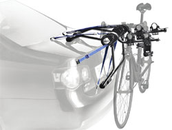 Thule 910XT Passage 2-Bike Trunk Mount Carrier mounted on a car trunk
