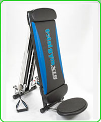 The Total Gym XLS Which Comes With A Leg Pull Accessory Folds Up Compactly For Storage