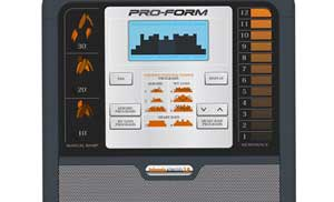 The trainers includes an easy-to-read console with 6 personal trainer workouts and 2 heart rate workouts.