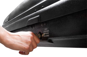 The One-Key lock system used with the Thule Ascent Rooftop Cargo Box