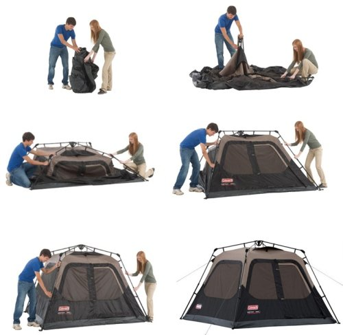 Instant Tents can be set up or taken down in less than one minute  sc 1 st  Amazon.com & Amazon.com : Coleman 4-Person Instant Cabin : Family Tents ...