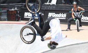 BMX Rider in Bell Faction Helmet