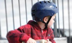 Youth Rider in Bell Faction Helmet