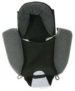 An isolated view of the Croozer Designs child seat supporter