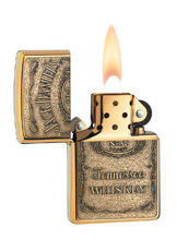 Zippo Jack Daniel's Tennessee Whiskey Emblem Pocket Lighter, High Polish Brass 2