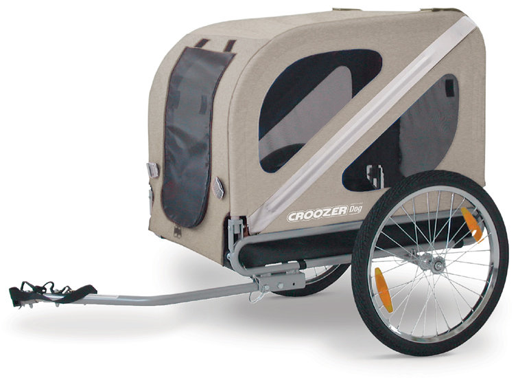 croozer dog bicycle trailer sand silver. Black Bedroom Furniture Sets. Home Design Ideas