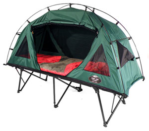 The built-in cot holds the entire tent several inches off the ground.  sc 1 st  Amazon.com & Amazon.com : Kamp-Rite Compact Collapsable Tent Cot : Tentcot ...