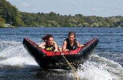 full throttle speed ray inflatable tow tube. Black Bedroom Furniture Sets. Home Design Ideas