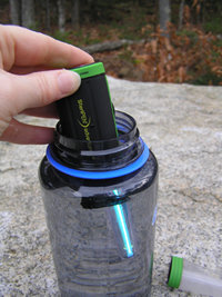 SteriPen Adventurer Opti Water Purifier 13 Compact handheld ultraviolet light (UV) water purifier designed specifically for outdoor/expedition use. -Reusable for up to 8,000 liters. Destroys over 99.9% of harmful bacteria, viruses and protozoa, like Giardia and Cryptosporidium. -Certified by the Water Quality Association. Fast, safe, effective and chemical-free. Doesn't alter taste, pH, or other water properties.